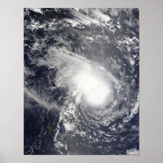 Ciclón tropical Gael que se acerca a Madagascar Póster