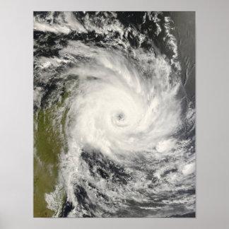 Ciclón tropical Ivan sobre Madagascar Póster