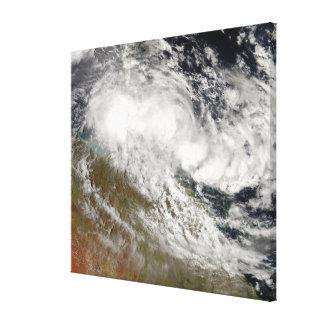 Ciclón tropical Olga sobre Australia de nordeste Impresion De Lienzo