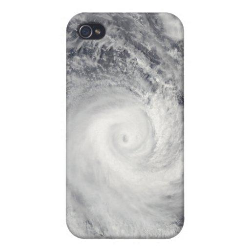 Ciclón tropical Oli de la costa de Tahití iPhone 4/4S Fundas