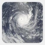 Ciclón tropical Wilma Pegatina Cuadrada