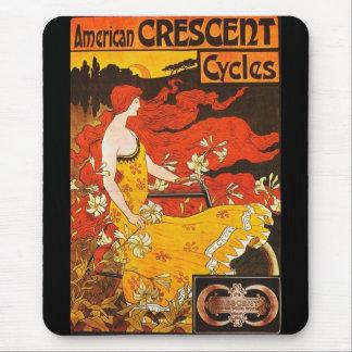 Ciclos crecientes americanos del vintage de Mousep Tapete De Raton