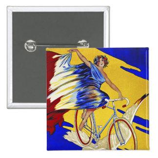 Ciclos de Alcyon - arte de la bicicleta del Pin Cuadrado