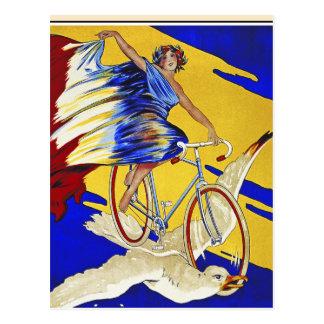 Ciclos de Alcyon - arte de la bicicleta del Postal