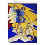 Ciclos de Alcyon - arte de la bicicleta del vintag Tarjeton
