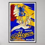 Ciclos de Alcyon - arte francés de la bicicleta de Poster