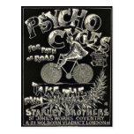 Ciclos de Pyscho - anuncio de la bici del vintage Tarjeta Postal