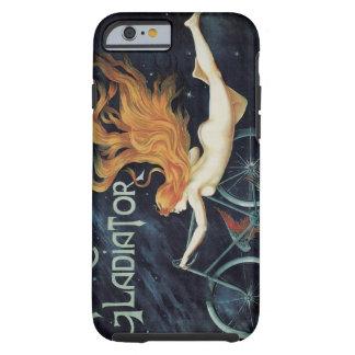 Ciclos del gladiador de la mujer del Redhead de Funda De iPhone 6 Tough
