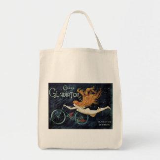Ciclos del gladiador del vintage, arte Nouveau del Bolsa Tela Para La Compra