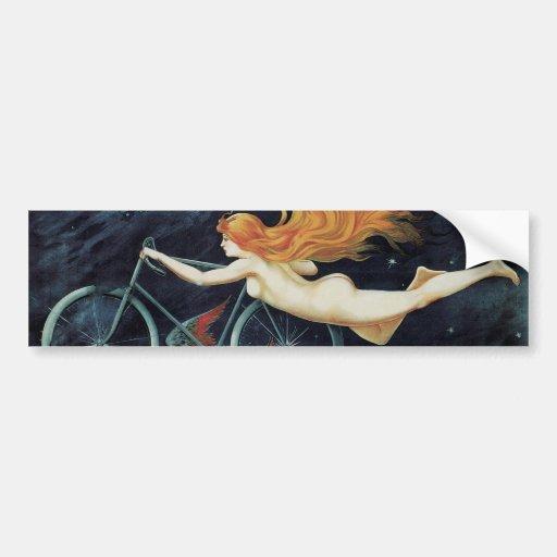 Ciclos del gladiador del vintage, arte Nouveau del Etiqueta De Parachoque