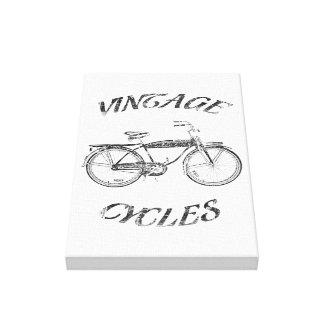 Ciclos del vintage impresiones en lona estiradas