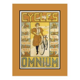 Ciclos Omnium Tarjeta Postal