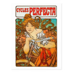 Ciclos Perfecta, arte Nouveau de Alfonso Mucha Tarjetas Postales