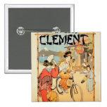 Ciclos pre Santo-Gervais clemente Pin Cuadrada 5 Cm
