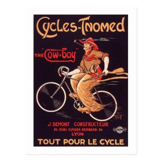 """Ciclos Tnomed """"el anuncio francés de la bici del Tarjetas Postales"""