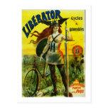 Ciclos y automóviles del LIBERTADOR Postal