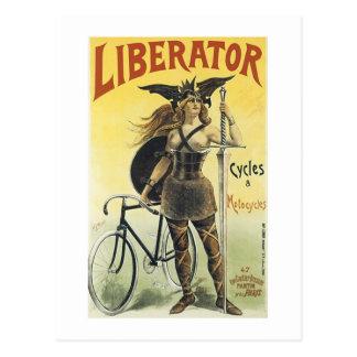 Ciclos y motocicletas del libertador postales