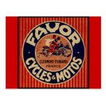 Ciclos y motores del favor tarjetas postales