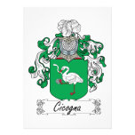 Cicogna Family Crest Card