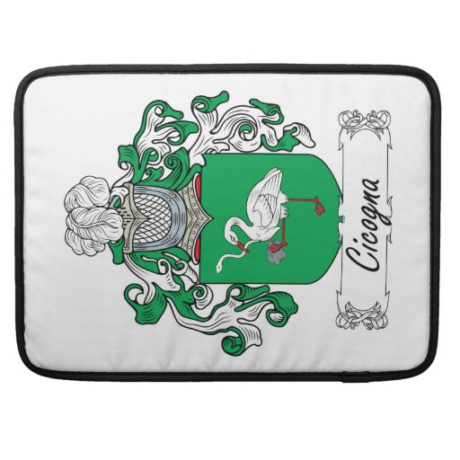 Cicogna Family Crest Sleeves For MacBooks