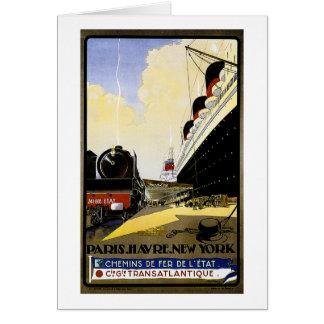 Cie Gie Transatlantique Vintage Travel Ad Card