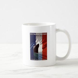 Cie Gle Transatlantique French Line Mugs