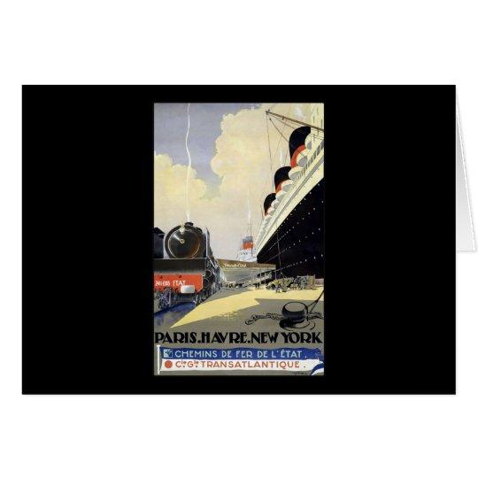 Cie Gle Transatlantique París Havre Nueva York Tarjeta De Felicitación