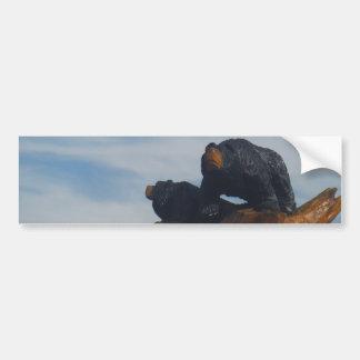 Cielo ahumado azul negro enselvado de las montañas pegatina para auto