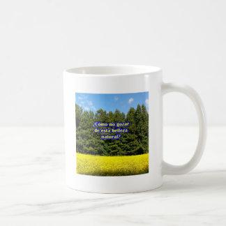 Cielo árboles y flores 18.02.04 coffee mugs