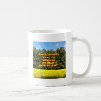 Cielo árboles y flores 18.02.07 coffee mugs