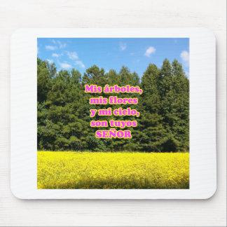 Cielo árboles y flores 18.02.10 mouse pad