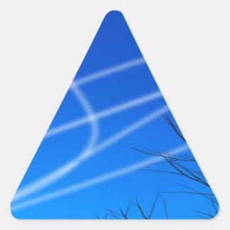 Cielo ateo pegatina triangular