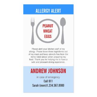 Cielo azul alerta Duotones de la alergia Tarjetas De Visita