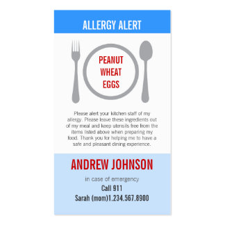 Cielo azul alerta Duotones de la alergia Tarjetas De Negocios