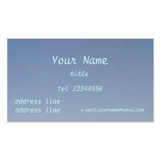 cielo azul claro tarjetas de visita