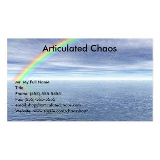 Cielo azul con el arco iris tarjetas de visita