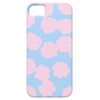 Cielo azul con el modelo rosado de las nubes funda para iPhone SE/5/5s