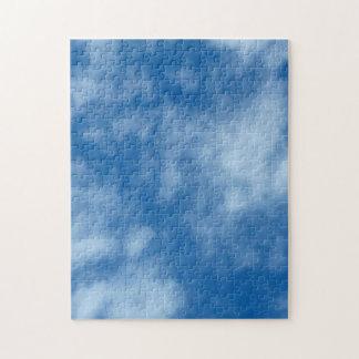Cielo azul con la foto de las nubes rompecabeza