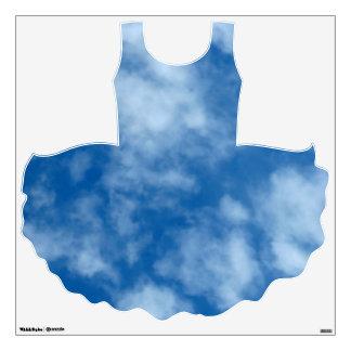 Cielo azul con las nubes en el tutú vinilo adhesivo