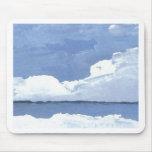 Cielo azul CricketDiane del paisaje marino del océ Alfombrillas De Ratones