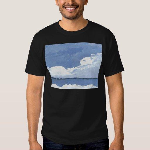 Cielo azul CricketDiane del paisaje marino del Polera