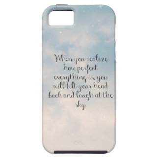 "Cielo azul ""cuando usted realiza"" cita inspirada funda para iPhone SE/5/5s"