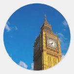 Cielo azul de Big Ben Etiqueta Redonda