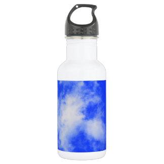 cielo azul de la botella
