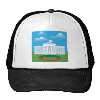 Cielo azul de la Casa Blanca Gorros Bordados