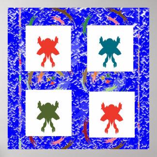 Cielo azul de la chispa - danza FELIZ del ganador Póster