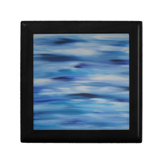 Cielo azul de la colección de las pinturas de joyero cuadrado pequeño