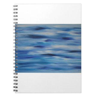 Cielo azul de la colección de las pinturas de libros de apuntes con espiral