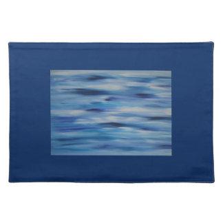 Cielo azul de la colección de las pinturas de manteles individuales