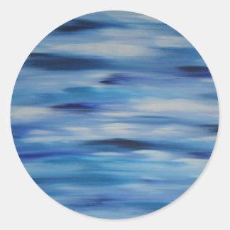 Cielo azul de la colección de las pinturas de pegatina redonda